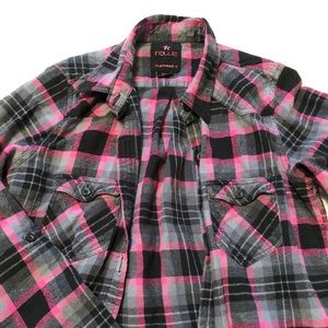 Black and Pink Flannel